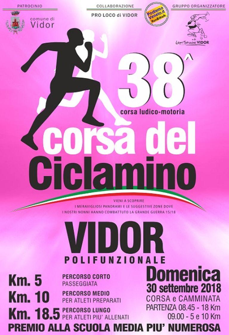Calendario Podismo Veneto 2020.38 Marcia Del Ciclamino 2018 09 30 Mapsrun Calendario