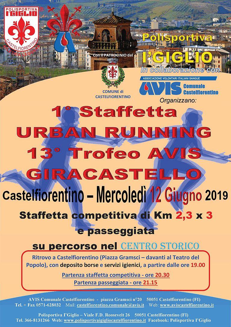1° Staffetta Urban Running – 13° Trofeo Avis Giracastello