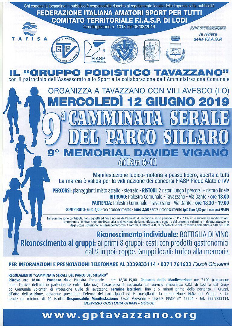 9° Caminada Serale Parco Sillaro