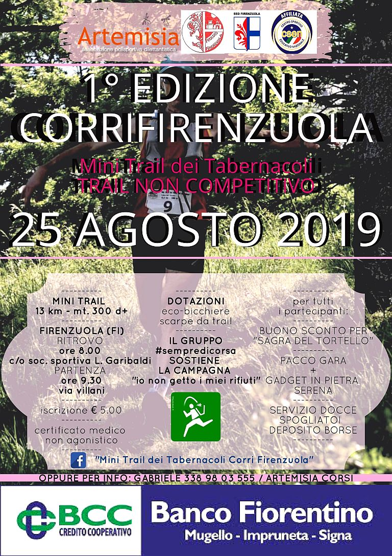 1° CorriFirenzuola – Mini Trail dei Tabernacoli