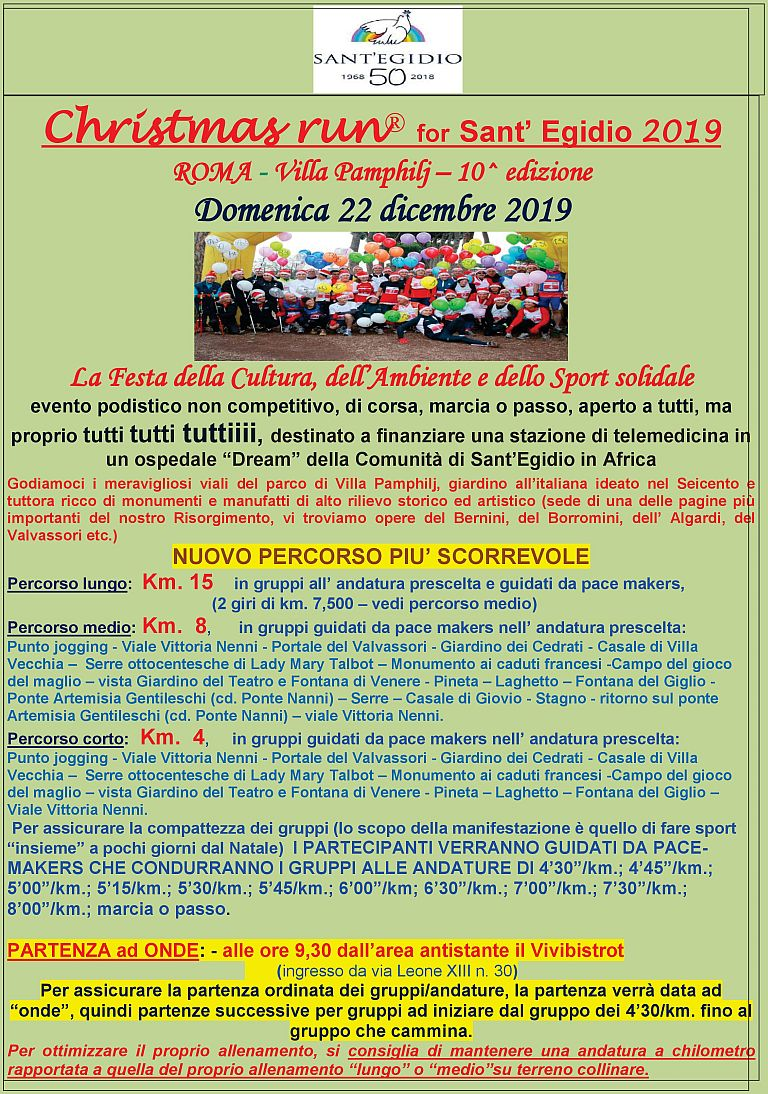 10° Christmas Run for Sant'Egidio