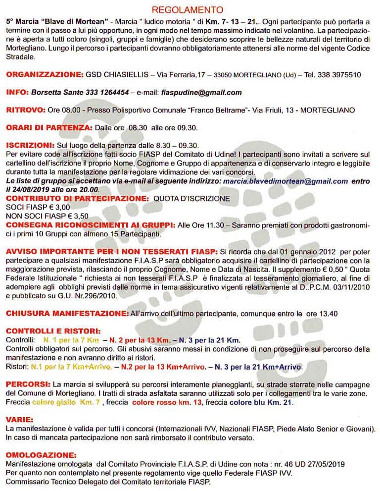 Calendario Fiasp Fvg.5 Marcia Blave Di Mortean 2019 08 25 Mapsrun