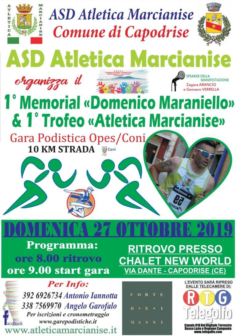 1° Trofeo Atletica Marcianise – Memorial Domenico Maraniello