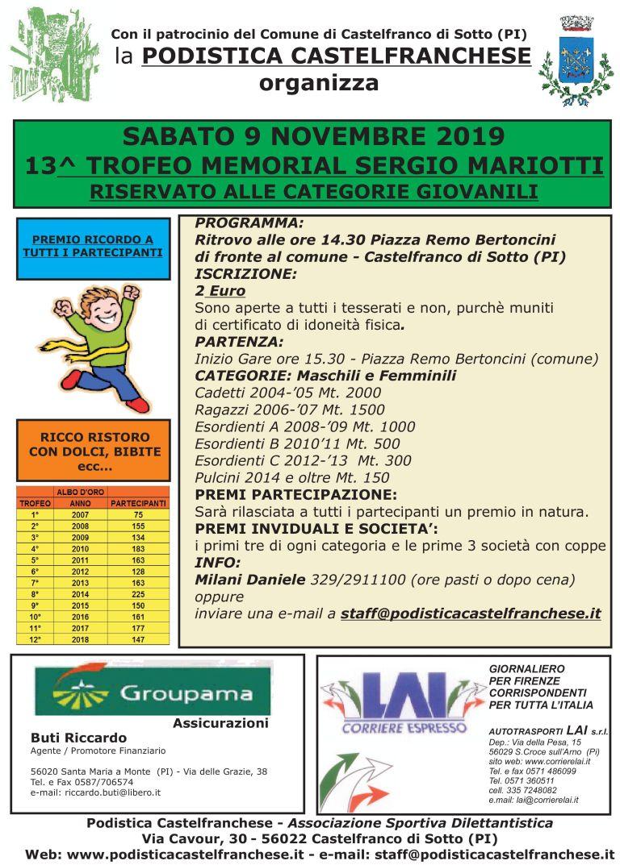 13° Memorial Sergio Mariotti