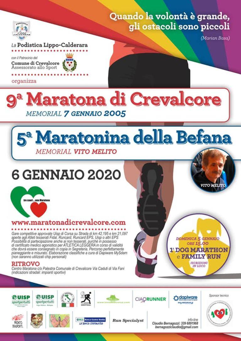 9° Maratona di Crevalcore — 5° Maratonina della Befana